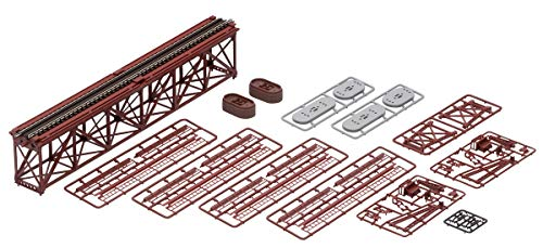 TOMIX Nゲージ 上路式単線トラス鉄橋S280 (F) 赤 (れんが橋脚・2本付) 3266 鉄道模型用品