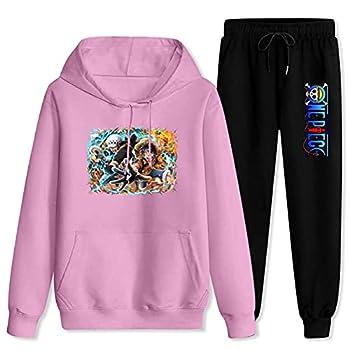 Jsmllia Tracksuit Sets Luf-fy and L-aw Hoodies Sweatshirt Sweatpants Suits for Men Women Women-M/Men-S