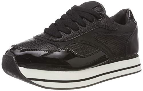 ICHI Damen A Finola FW Sneaker, Schwarz (Black 10011), 41 EU