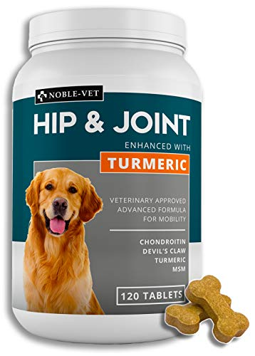 BlessPass NobleVet - Hips and Joint Dog Supplement | Chondroitin, Msm, Turmeric for dogs | Joint supplements for dogs | Dog joint care supplements | Joint Care for Dogs