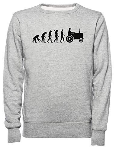 Evolutie Trekker Dames Mannen Unisex Sweatshirt Trui Grijs Women's Men's Unisex Sweatshirt Jumper Grey