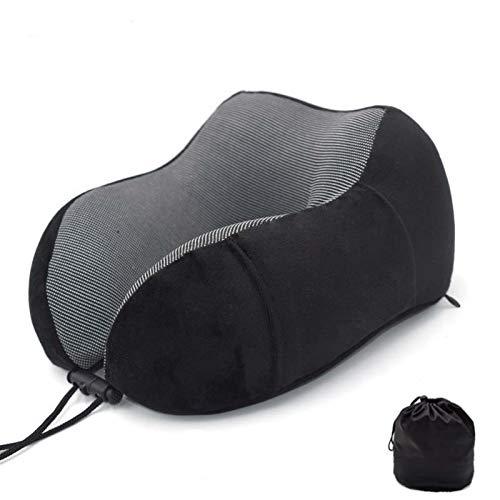 Memoria de espuma de espuma almohada suave lento repunte espacio de viaje almohada cuello sólido cervical columna vertebral (Color : Light Yellow, Size : 30x28x14cm)