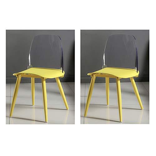 LHHL – Juego de 2 bandejas de desayuno para pequeños almuerzo sillas, superficie de plástico, asiento de plástico del respaldo PP de PC, pintura de patas de tubo de acero