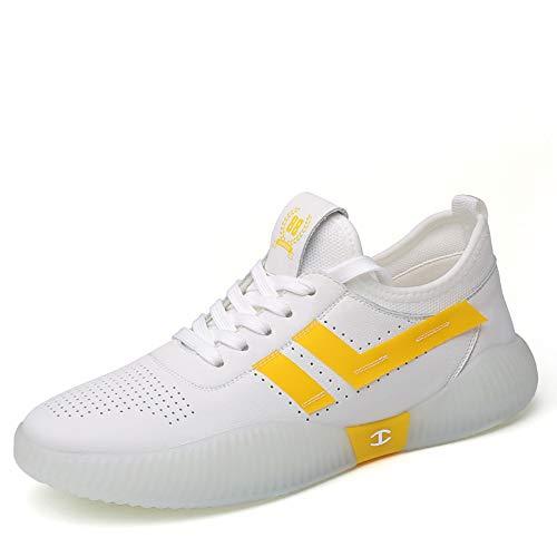 Zapatillas de Running de Malla para Hombre Calzado Deportivo para Caminar Blanco 41