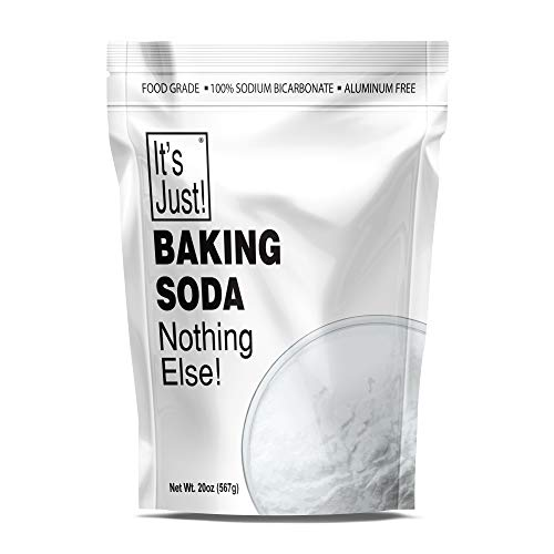 It's Just - Baking Soda, 100% Pure Sodium Bicarbonate, Aluminum Free, Food Grade, Made in USA, (1.25 Pounds)