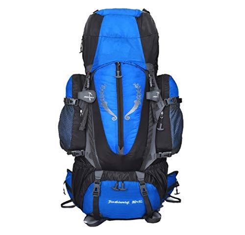 GYBN 80L Sac d'alpinisme en Nylon imperméable Grande capacité Sac d'alpinisme imperméable adapté pour Les Loisirs Sac à Dos de Voyage, Matériau, Couleur, Blue