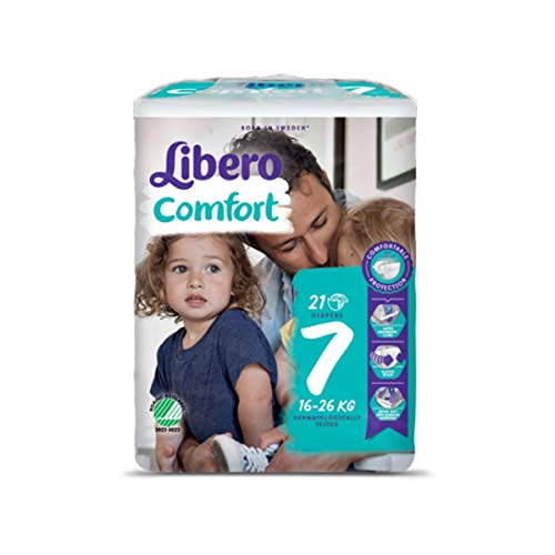 nappies 7 Comfort XL nappies 16 – 26 kg libero By sca