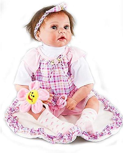 Boy Reborn Baby Doll Silikon Baby Doll 24 Zoll 50cm Schwarz Augen