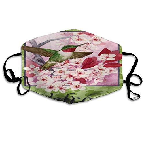 shifeiwanglu Unisex Mundmaske,Hummingbird Welcome Pattern Mouth Masks Unisex Washable Reusable Mouth Mask Fashion Design for Girls Women Boys Men