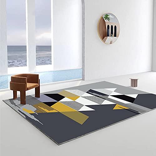 Alfombra Irregular De Impresión Geométrica Moderna Alfombra Gruesa Antideslizante E Impermeable Adecuada para Dormitorio Sala De Estar Entrada