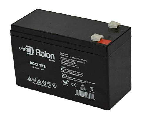 Raion Power RG1270T2 12V 7Ah Replacement UPS Backup Battery for CyberPower SL 525SL - 1 Pack