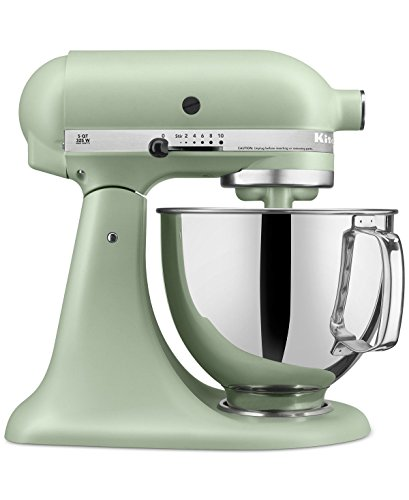 KitchenAid RRK150PI Artisan Series 5-Qt. Stand Mixer with Pouring Shield - Matte Pistachio (Renewed)