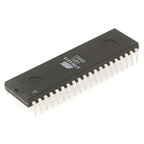 Atmel Semiconductor ATMEGA16-16PU ATmega16, 8-Bit AVR Microcontroller with 16KB, in-System Programmable Flash, DIP-40, 13.97 mm W x 4.83 mm H x 52.58 mm L (Pack of 2)