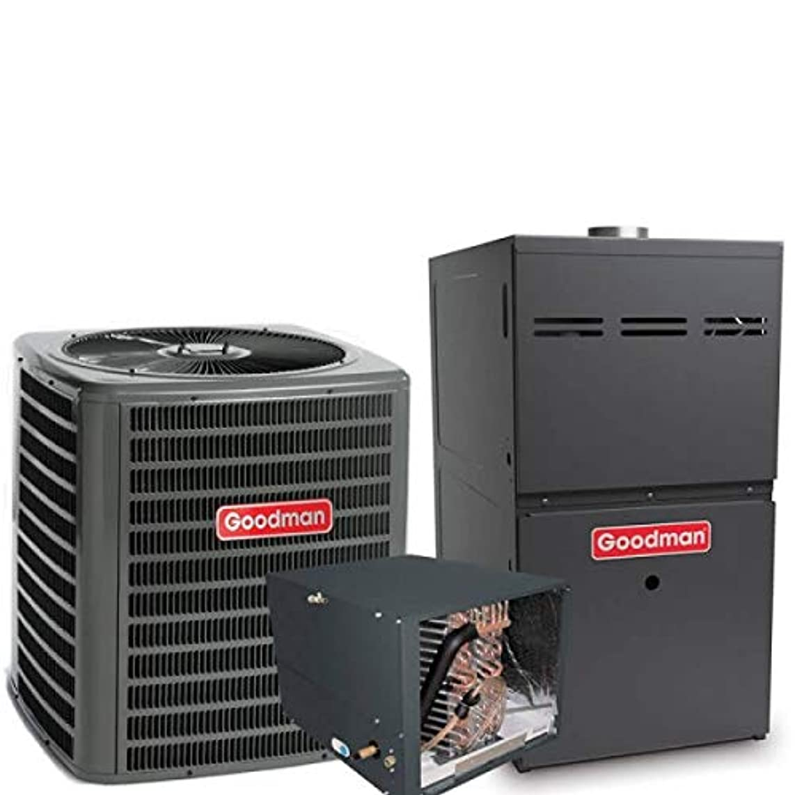 3 Ton Goodman 14.5 SEER R410A 96% AFUE 80,000 BTU Two-Stage Variable Speed Horizontal Gas Furnace Split System - Yes, add one to my order.
