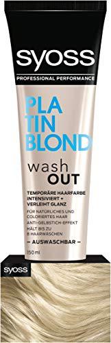 SYOSS Washout Stufe 1 Platinblond, temporäre Haarfarbe, 1er Pack (1 x 150 ml)