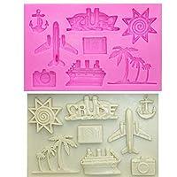 Ircraft /太陽/ココツリー/ヨット/槍ケーキデコレーションツールムールシリコンフォンダンチョコレートモールド