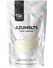 Azumelts - Cobertura para Repostería para Cubrir, hacer Dripping o Dibujar en Dulces - 250 G (Blanco Brillante)