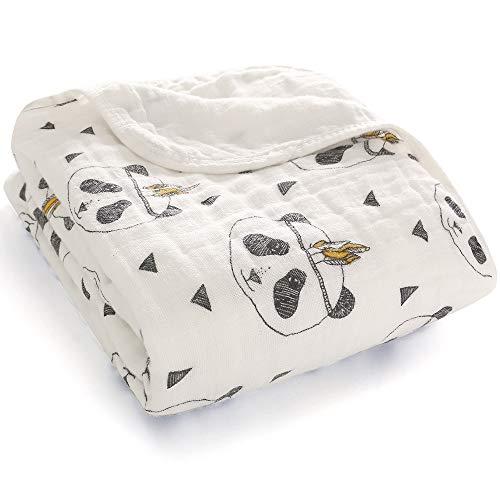 Miracle Baby Mantas Bebe Algodón, Swaddle Blanket Muselina 100% Algodón, Arrullo para Bebe,Baño De Envolver Para Recién Nacido Dos Capas 110x150cm