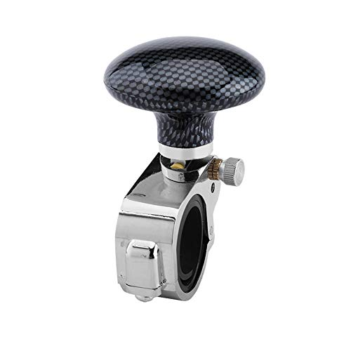 Preisvergleich Produktbild Keenso Universal Auto Lenkrad Knopf Griff Leistung Hilfe Ball Steigert Drehknopfklemme(Kohlefaser)