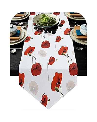 Tischläufer, rot, Tischläufer, Blume, Party, Hochzeit, Champagner, Dekoration, Tischläufer, Esszimmer, Restaurant, wxf03933 – 33 x 178 cm