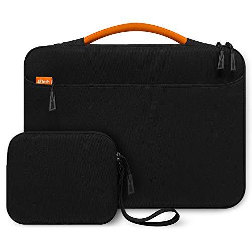 JETech Funda Portátil Impermeable Compatible 13,3 Pulgadas Notebook Tableta iPad Tab con Bolsa Extra y asa Portátil, Sleeve Compatible MacBook Pro 13', MacBook Air, Notebook Computer (Negro)