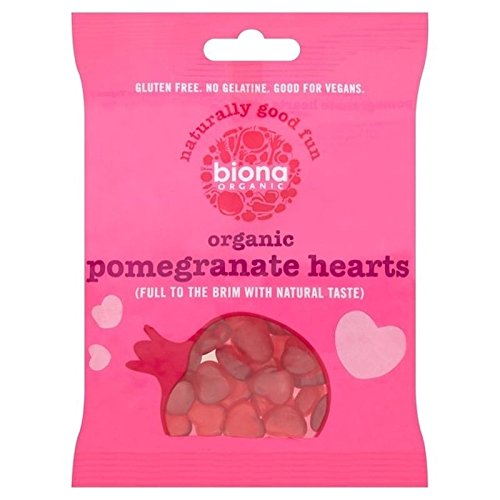 Biona Organic Pomegranate Hearts 75g, 6 Pack