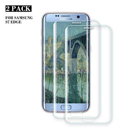 ZOLMAG Galaxy S7 Edge Panzerglas Schutzfolie, [2 Stück] Ultra-klar, Bruchsicher, 9H Anti-Kratzen Härtegrad Displayschutzfolie, Blasenfreie Panzerglasfolie für Samsung Galaxy S7 Edge