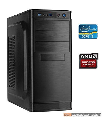 dercomputerladen Office PC System Intel, i5-4440 4×3,1 GHz, 16GB RAM, 2000GB HDD, Radeon HD5450 -1GB