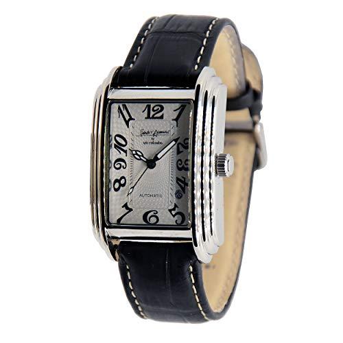 Reloj automático Gabriele D'Annunzio by Giò Colombo en producción limitada, modelo clásico con movimiento a la vista y correa negra de piel auténtica.