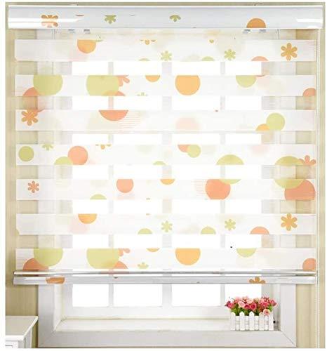 Persianas de papel plisadas de tamaño personalizado con diseño de cebra, persianas enrollables dobles para oficina, dormitorio, comedor, filtrado de luz, persianas para ventanas