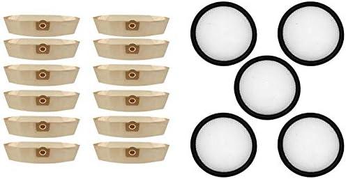 Piezas de repuesto de la aspiradora 5 UNIDS FILTRO DE HEPA Lavable Ajuste para PROSCENIC P9 P9GTS, 12x Ajuste para Karcher 6.959-130.0 A2201 Bolsa de papel de filtro de bolsas de polvo A2201 WD3 Acces