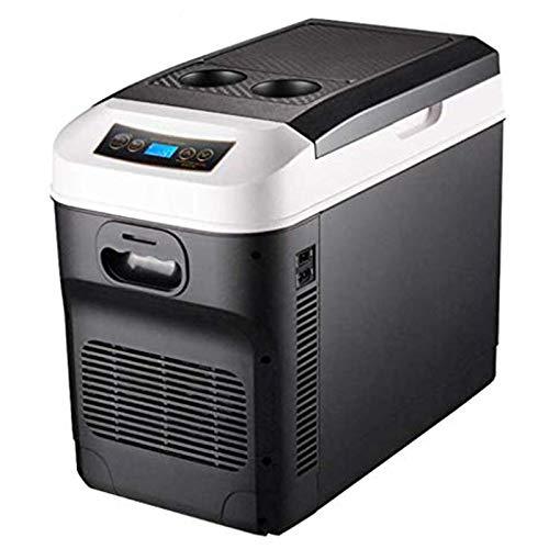 Kühlschrank Kühl Gefrier Gefrierschrank Kühlbox Auto und Steckdose 28L Mini Tragbare 12V 24V 230V Mobile Auto Kühlschrank Kühlboxen Leise,Dual-Core-Kühlung,Digitaler Bildschirm,Wärme/Kühlendes,Für Aut