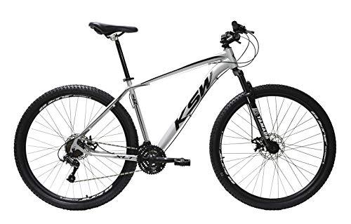 Bicicleta Aro 29 Ksw Alumínio Câmbios Shimano 21 Marchas (Prata/Preto, 19)