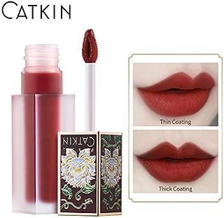 CATKIN Liquid Lipstick,Matte Lip Gloss Velvety Silky Smooth Natural Waterproof Long Lasting Non-Stick Cup Moisturizer Makeup-C04
