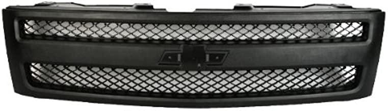 CarPartsDepot, Front Grille Outer Frame Textured Matte Black Mesh Insert, 400-15476 GM1200578 25810706