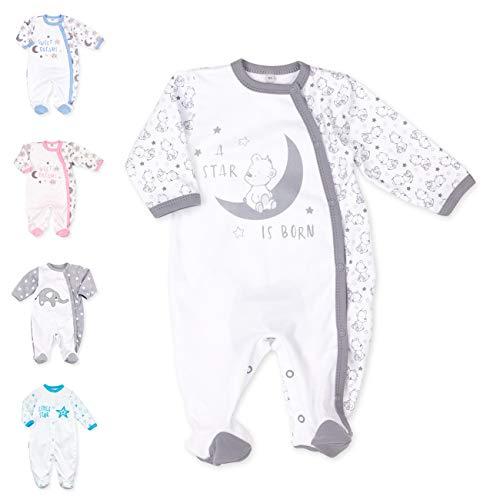 Baby Sweets Baby Strampler für Mädchen und Jungen/Baby-Overall als Schlafanzug und Babystrampler, 56, Grau Weiß - A Star Is Born (2)
