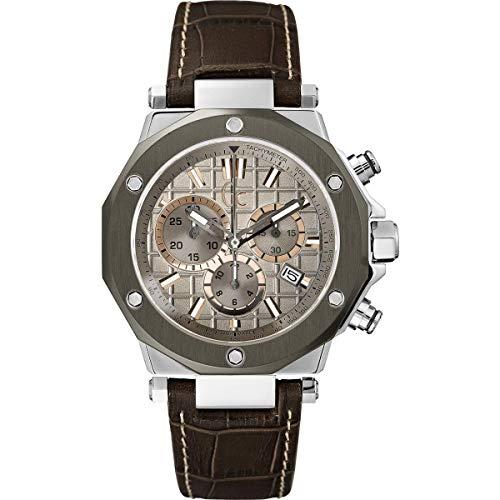 Guess heren chronograaf kwarts horloge met lederen armband X72026G1S