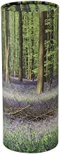 Bluebell Forest Scattering Tube for Human Ashes, Eco Burial Urn, 12.5 inches High, Adult Scattering Urn for Ashes