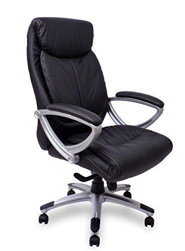 Chefsessel Kings - Schwarz Silber Kunstleder Ergonomischer Bürostuhl Schreibtischstuhl Drehstuhl Sessel Stuhl