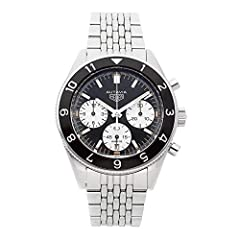 Black aluminum Bi-directional Bezel with 12 Silvered Hour Graduations Polished Stainless Steel Case and Bracelet Case Diameter: 42 mm Swiss Made, TAG Heuer Caliber HEUER 02 Self Winding Automatic Movement, Chronograph Feature and 75 Hour Power Reserv...
