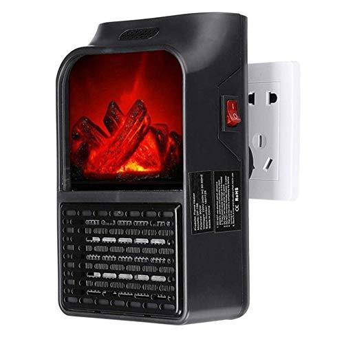 NBMN Mini Portátil Handy Heater Llama Calentador Bajo Consumo Temperatura Regulable Estufa Eléctrica Calefactor Calentamiento Cerámica PTC para Oficina/Dormitorio/Hogar