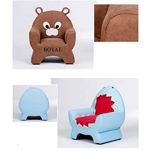 Juguete Sillón de niño pequeño, sofá de niña, Oso de Dibujos Animados Oso tiburón Rana para niños de 1-6 años (Color: c) (Color : C)