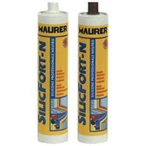 Sellador Acrílico Silicona Neutro Silicfort Maurer-N 310 ml, Color Cobre