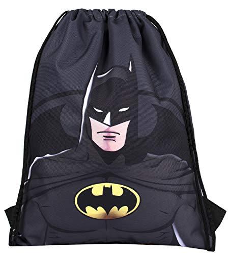 DC Comics - Sakky Kids Batman Bolsa con cordón - Bolsa escolar para niños - Regalo oficial para niños