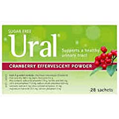 Ural is a pleasantly flavoured effervescent drink which provides relief from painful burning symptoms of urinary Tract Infections. Ural helps to neutralize the acid in the urinary tract while assisting in eliminating organisms that cause infection. C...
