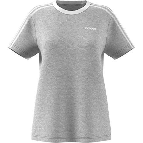 adidas T-Shirt Essential 3-Stripes Boyfriend T-Shirt, Mgreyh, L, FN5779