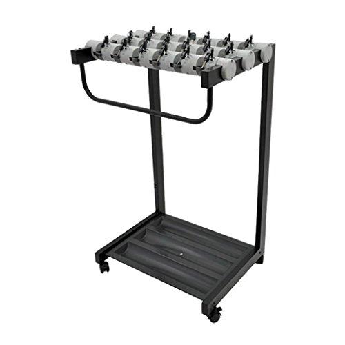 DAGUAI Gris 18 cerraduras, Paraguas de Metal extraíble, con Cerradura, Resistente y Duradero 56 cm * 45 cm * 87 cm de pie (Size : #2)