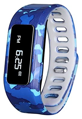 Kids Fitness Watch Activity Tracker, Kids Smart Wristband Watch, Wireless Wearable printed band Pedometer with free mobile app