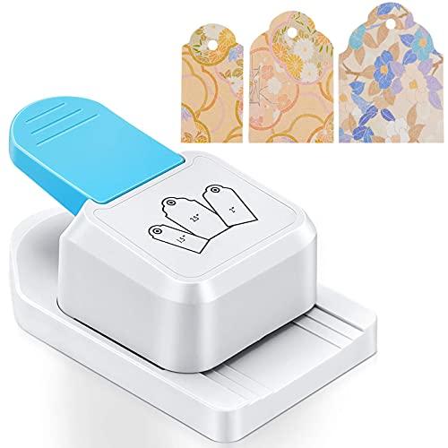 GESTAND Etiketten-Stanzer 3 in 1 Motivlocher aus Metall und Plastik zum Basteln mit Papier Scrapbooking Fotos Grußkarten Eckenstanzer (Rundkopf)