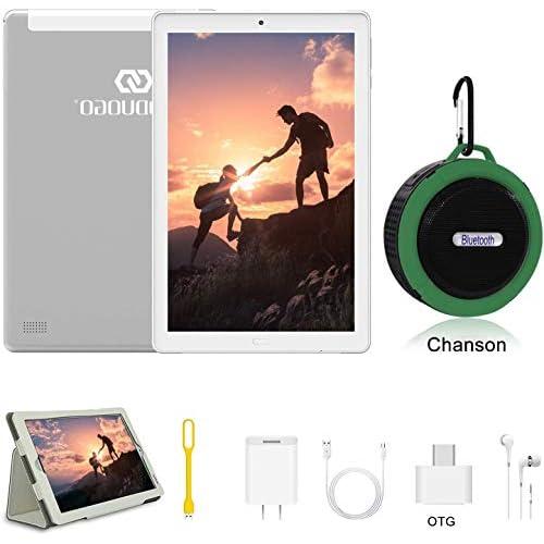 Tablet 10 Pollici con wifi offerte Android 9.0 4GB RAM + 64GB ROM 4G Dual SIM 7500mAh Tablet Pc con 3 Slot (Dual SIM + SD) Youtube/Netflix/GPS/OTG/Altoparlante Bluetooth (Senza tastiera e mouse)